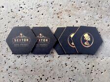 Sexton Whiskey Bar Coasters You Receive 5 Coasters Free Shipping