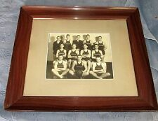 Vintage Grain Painted Picture Frame & Vintage Sunoco Men's Basketball Team Photo