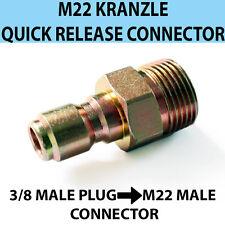 """Kranzle M22 Maschio Filettatura a sgancio rapido 3/8"""" MASCHI Pressione Lavaggio di accoppiamento"""