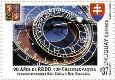 2011 Diplomatic relations Czech Prague Astronomical Clock URUGUAY Sc#2358 MNH