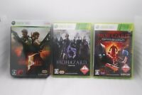 XBOX 360 BIOHAZARD 5 Deluxe Edition, 6 & Raccoon City 3Games Japan Resident Evil