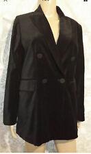 Zara Black Velvet Blazer Jacket Medium M 10 BNWT RRP £79.99