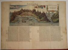 ADEN YEMEN 1575 BELLEFOREST UNUSUAL ANTIQUE WOODCUT CITY VIEW FRENCH EDITION