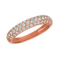 0.75 Carat Natural Diamond Ring Band G SI 14K Rose Gold