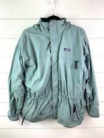Vintage Patagonia Women's Winter Coat Size Large Green Waterproof Removable Hood
