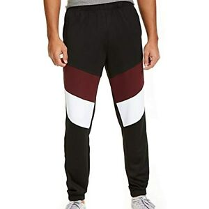$45 Ideology Mens Pants Colorblock Pull-On Track Stretch Wine XXL