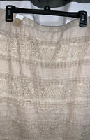 Maurices Pull-On Skirt, Beige, Size Large, NEW W/Tags