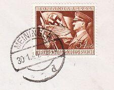 Germany Third Reich 11th Anniversary Cancel & Stamp Meiningen 1.30.44 Cover 9w