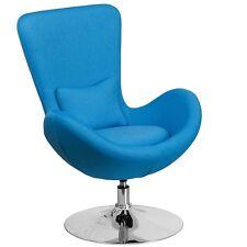 Flash Furniture Aqua Fabric Egg Series Reception-Lounge-Side Chair New