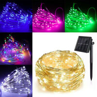 100/200 Led Solar Power Fairy Light String Lamp Party Xmas Deco Garden Outdoor