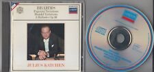 Julius Katchen BRAHMS Variations - London 417 644-2 Germany Full Silver No IFPI