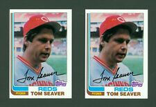 1982 TOPPS #30 TOM SEAVER (NM-MT) HOF REDS METS / LOT OF 2