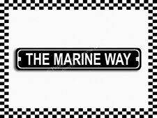 (SA-1419) The Marine Way Street Sign 3x18 Metal Plaque