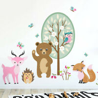 Forest Animals Wall Decal, Woodland Animals Critters Girls Room Decor Decal