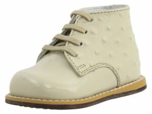Josmo Infant/Toddler Boy's First Walker Beige Ostrich Lace Up Oxfords Shoes