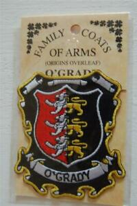 O'GRADY Family PATCH Heraldic Coat of Arms - Crest - Embroidered - Badge