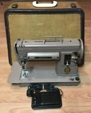 Vintage Singer 301A Portable Sewing Machine With Trapezoid Case