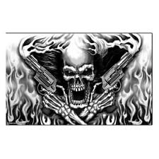 Hot Leathers Assassin Skull Flag
