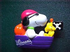 Miniature Peanuts Snoopy & Woodstock in Pirate Ship Figurine