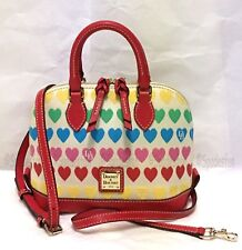 Dooney & Bourke Candy Hearts BITSY Small Zip Satchel Bag Purse Red Multi NWT