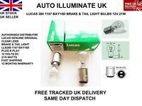 LUCAS 380 1157 BAY15D CAR STOP BRAKE & TAIL SIDE LIGHT BULBS LAMPS P21/5W 12V UK