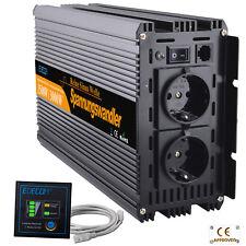 Inversor Onda Pura 1500W 3000W 24V DC a 220V AC Power Inverter remote & cables