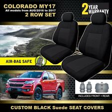 BLACK HOLDEN RG COLORADO MY17 CREW Cab Seat Covers 2ROW 9/2016-18 LS LT LTZ Z71