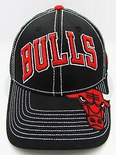 Chicago BULLS ADIDAS Team Drop Snapback Cap Hat Air Jordan NBA Black New