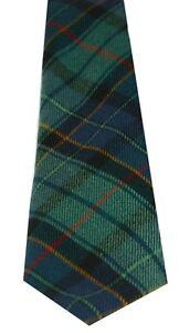 LEINSTER GREEN MODERN  PURE WOOL TIE by LOCHCARRON of SCOTLAND