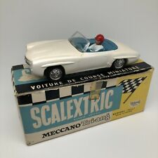 Scalextric Mercedes 190 SL White C75 Meccano Tri-ang Vintage Car Avec Boite