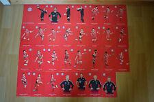 FC Bayern München Meister Saison 2017/2018 Meister Top 31 Autogrammkarten