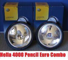HELLA RALLYE FF4000 LUMINATOR METAL Pencil & Euro Beam Off Road Driving Lights