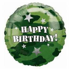 Ejército Feliz Cumpleaños Foil Balloon Decoración Fiesta De Cumpleaños Camuflaje