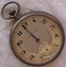 Satisfaction Pocket watch open face silver case 47 mm. in diameter
