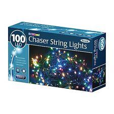 LED Chaser Fairy String Lights Wedding Party Xmas Christmas Mutli COLLOURED 100 LEDs