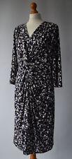 Ladies WINDSMOOR Navy Blue, grey & white Fully Lined dress size UK 16