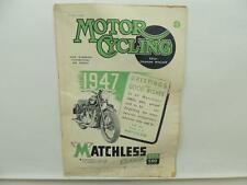 January 1947 MOTORCYCLING Magazine Matchless Clubman G3/L G80 L9784