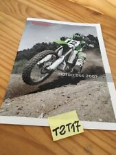 Kawasaki motocross 2007 KX 65 85 125 250 450 moto prospectus catalogue catalog