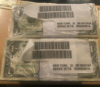 10 UC Consecutive 2017 Class A, NY $1 Dollar Bills Uncirculated W/Free Holder