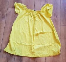 Ladies 'ASOS' Yellow elasticated neck cap sleeve Top. Size 14. vgc.