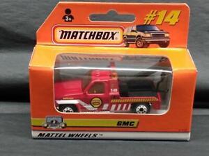 """1998 Matchbox GMC Wrecker # 14 Tow Truck """"GMC Service"""" MINT IN BOX! F5"""