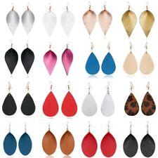 Handmade Leather Earrings Boho Leaf Teardrop Dangle Ear Stud Jewelry Women New