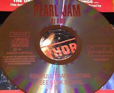 Pearl Jam Blood Australian Live CD Super Rare Rats Once Porch Sonic Even Flow