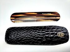 Rare Mappin & Webb Comb with Crocodile Leather Pouch & INOX Nail File- F. Ship