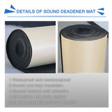 Waterproof Flame Retardant Car Soundproof Insulation Foam Flat Panel Easy to Cut
