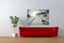 PHOTOGRAPH SPORT LIESURE SNOWBOARD MOUNTAIN SNOW GIANT ART PRINT POSTER NOR0994