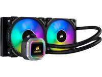 CORSAIR Hydro Series, H100i RGB PLATINUM, 240mm, 2 X ML PRO 120mm RGB PWM Fans,