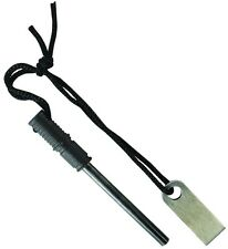 Schrade Large Ferro Rod With Fire Striker Plate And Lanyard SCHFS1 NEW L@@k
