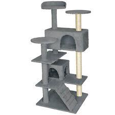 Arbre à chat griffoir grattoir avec 2 grottes geant 132cm