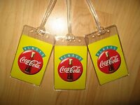 Coca Cola Luggage Tags - Always Coke Soda Pop Bottle Logo Suitcase Tag Set (3)